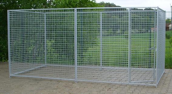 Hundezwinger 4x2 m mit Drahtgitter 50x50 mm